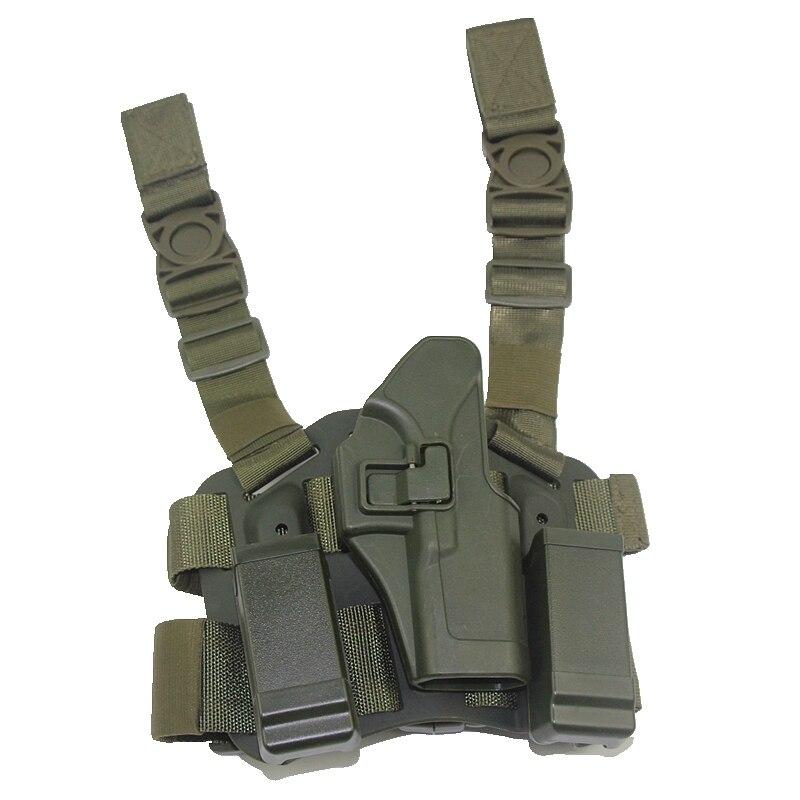 m9 1911 airsoft tático coxa perna coldre