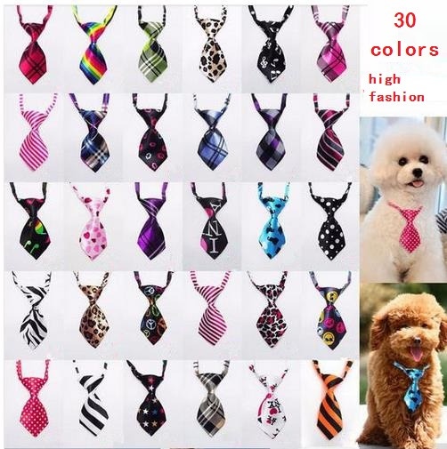 120PC Lot Colorful Dog Puppy Cat Ties Pet Dog Neckties Dog Bow Ties Pet Grooming Supplies