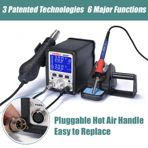 Image 2 - YIHUA 995D+SMD Soldering Station With Pluggable Hot Air Gun Soldering iron BGA Rework Station Phone Repair Welding Station