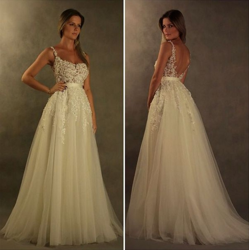 Buy sexy backless lace wedding dresses for Where to buy yasmine yeya wedding dresses