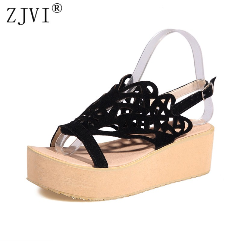 ZJVI woman fashion nubuck flat sandals women summer gladiator shoes womens cut outs 2018 sandals female platform slingback shoes women sandals 2017 summer shoes woman wedges fashion gladiator platform female slides ladies casual shoes flat comfortable