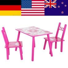 09e660e7f15c (Se envía desde ES) Juego de mesa y silla de flores de madera para niños,  niños, estudio de pintura para la escuela del hogar