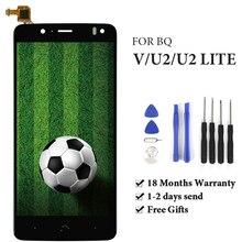 ホット販売 BQ Aquaris V/U2/U2 Lite 液晶ディスプレイ携帯電話の液晶画面アセンブリの交換 100% のテストグッド
