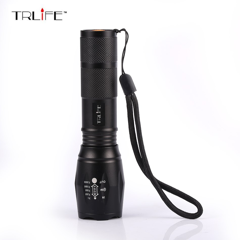 X900 LED Flashlight 8000 Lumens 5-Mode CREE XM-L T6 LED Tactical Flashlight Zoomable Focus Torch by 1*18650/3*AAA Battery