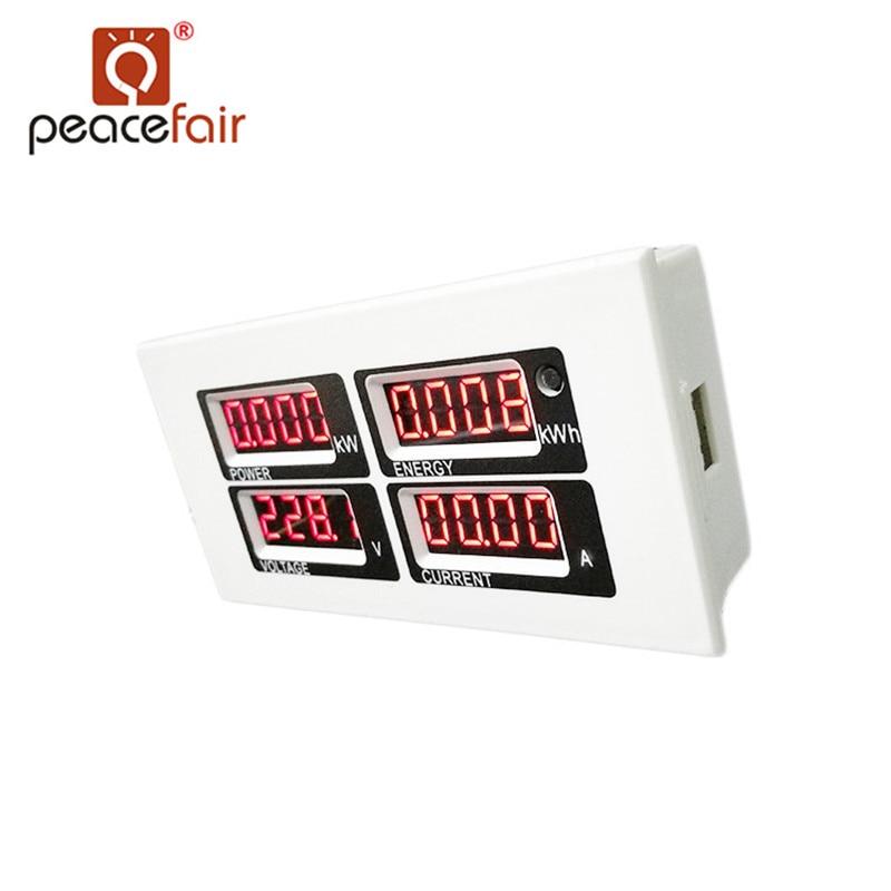 """""""PEACEFAIR PZEM-004"""" kintamos srovės šviesos diodo voltmetro - Matavimo prietaisai - Nuotrauka 5"""