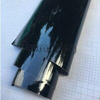50 cm x 2 mt/3 mt/5 mt Hohe Glänzende Vinylautoverpackung Piano Black Gloss Fahrzeug roller Motorrad DIY Klebstoff Pvc-folie Blatt