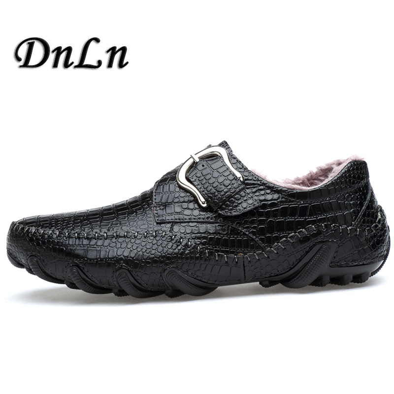 British Style Loafers Man Casual Shoes Genuine Leather Slip On Winter Plush Men Driving Shoes D30 new 2017 men s genuine leather casual shoes korean fashion style breathable male shoes men spring autumn slip on low top loafers