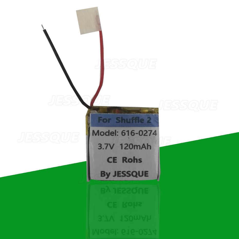 120 ビッグ交換用バッテリーアップルのipodシャッフル 2nd世代 2 Shuffle2 616-0274 G2 G3 3 アキュムレータbatterie akku