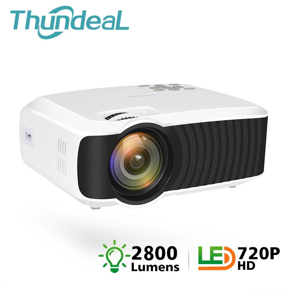 ThundeaL T4 Mini Projector 2800 Lumens Native 1280 720 Portable Video HD T23K Mini Beamer HDMI