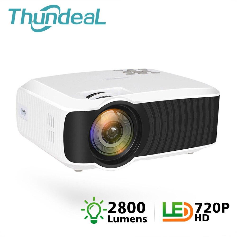 ThundeaL T4 Mini Projetor 2800 Lumens Nativo 1280*720 De Vídeo Portátil HD T23K Mini Beamer HDMI VGA Home Theater t23 Projetor