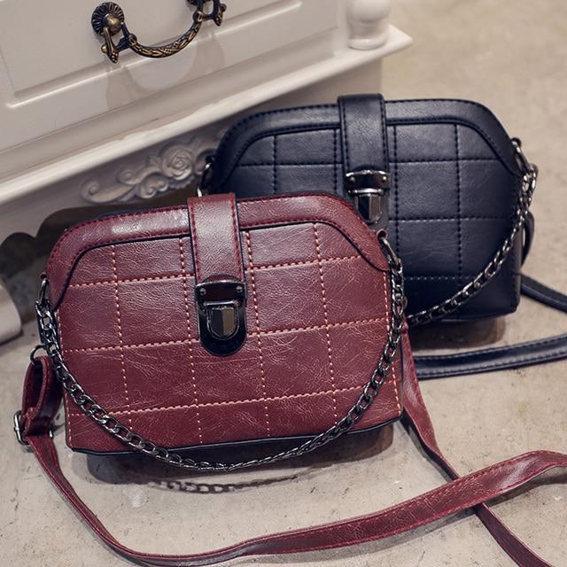 2016 Women small new brand Crossbody bag female brief fashion vintage shell shoulder messenger handbag female purse pouch