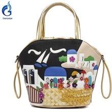 2016 Women Bags designer new Print Women handbag Shoulder Bag tote Canvas Handbags sac a main borse feminina 3D flowers bolsas