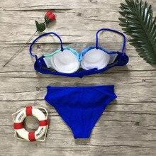 Women Sexy Print Swimwear 2019 New Female Two Piece Swimsuit Female Separate Push Up Bikini Set Beach Bathing Suit Micro Bikini