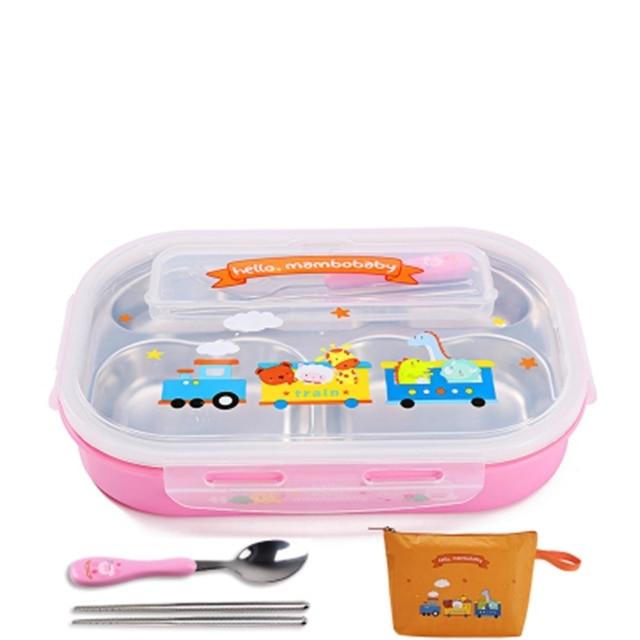 Pink Spoon and bag Cheap bento boxes 5c6479e2eddf7