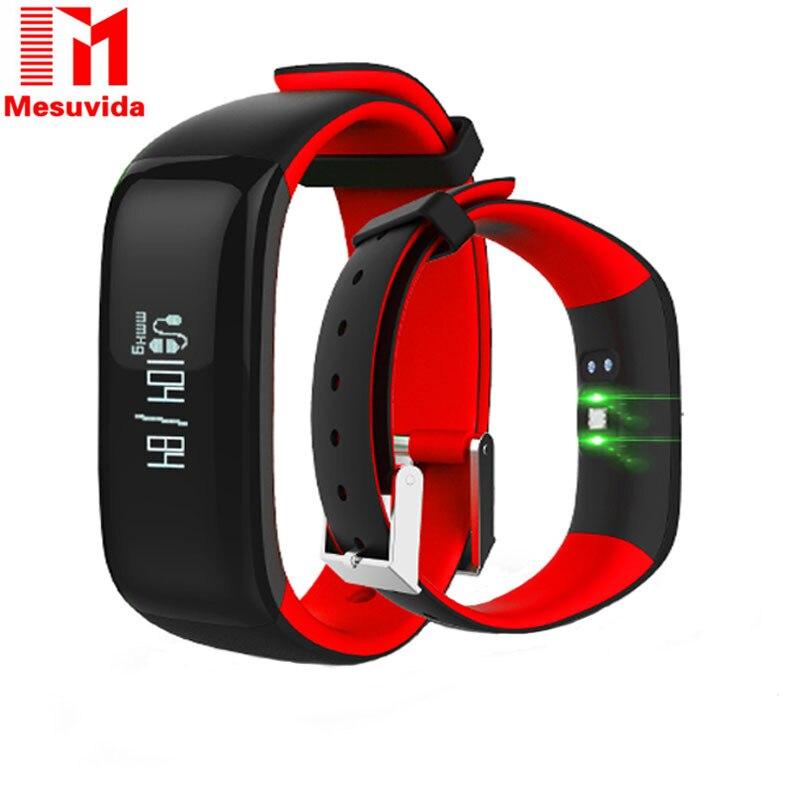 imágenes para P1 Smartband Relojes de Pulsera Inteligente Bluetooth Heart Rate Monitor de Presión Arterial Inteligente Pulsera de Fitness para Android IOS Teléfono