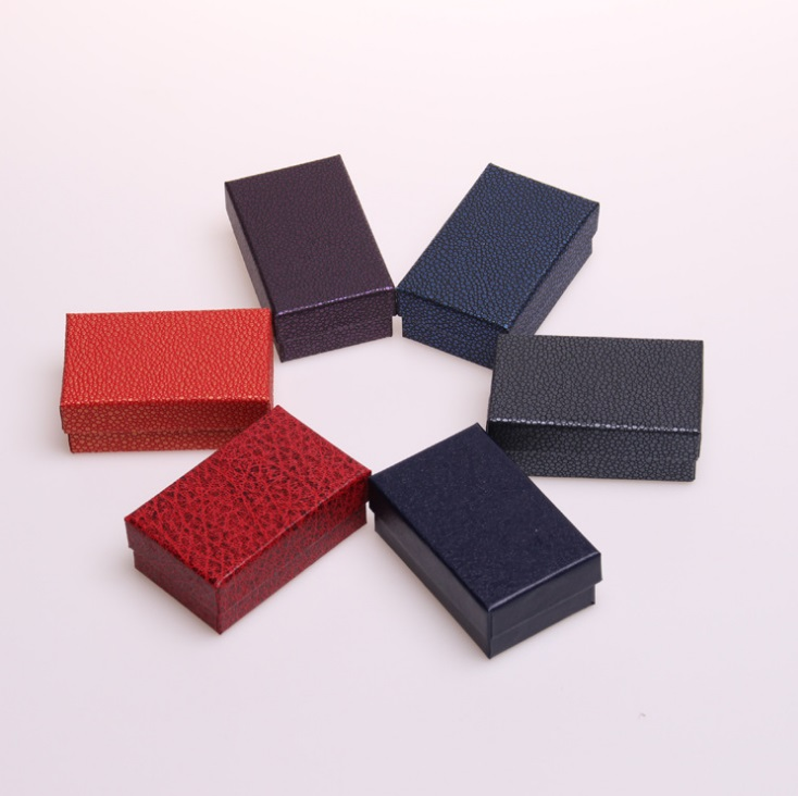 Новый 12 шт./лот 5*8 см Высокое качество Jewery Организатор Box кольца коробка для хранения небольших Подарочная коробка для кольца серьги 6 цветов ...
