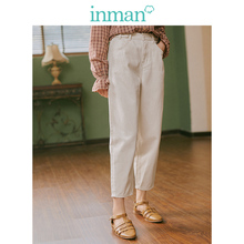 INMAN 2019 Autumn New Arrival Young Literary Style Medium Waist Loose Retro Women Pencil Jeans