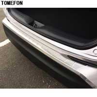 TOMEFON Fit For Toyota C HR CHR 2017 Rear Bumper Inner And Outter Protector Step Panel Boot Cover Sill Plate Trunk Trim Styling