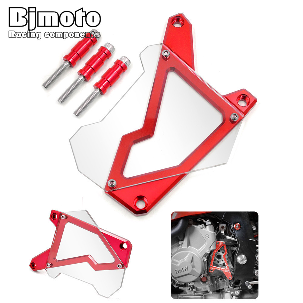 bjmoto Motorcycle Front Sprocket Cover Panel Left Engine Guard Chain Cover Protection For BMW S1000R  2014-2015 S1000RR mgoodoo cnc aluminum motorcycle left engine guard chain protector front sprocket cover panel for yamaha r3 r25 2014 2015 2016
