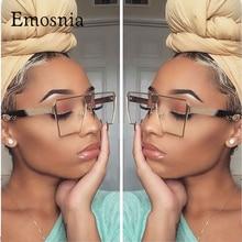 Emosnia 2017 Trend Square Sunglasses Women UV400 Clear