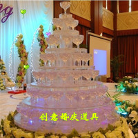 Seven tiers acrylic champagne tower (excluding cups and light) Banquet champagne tower,Party table wine tower
