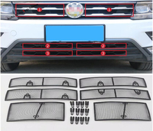 Yimaautotrims Front Grille Insect Screening Mesh Insert Net Cover Trim Fit For Volkswagen VW Tiguan 2016 - 2019 Exterior Kit