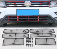 Yimaautotrims Front Grille Insect Screening Mesh Insert Net Cover Trim Exterior Kit Fit For Volkswagen VW Tiguan 2016 2019