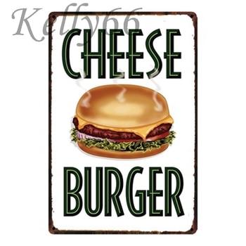 Kelly66 Peynir Burger Metal Burcu Kalay Posteri Ev Dekor Bar Duvar