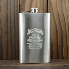 10Oz JD Leather Hip Flask Leather Russian Painting Portable Stainless Steel Hip Flask Bottle Small Gift Box Sent Funnel BJJ321
