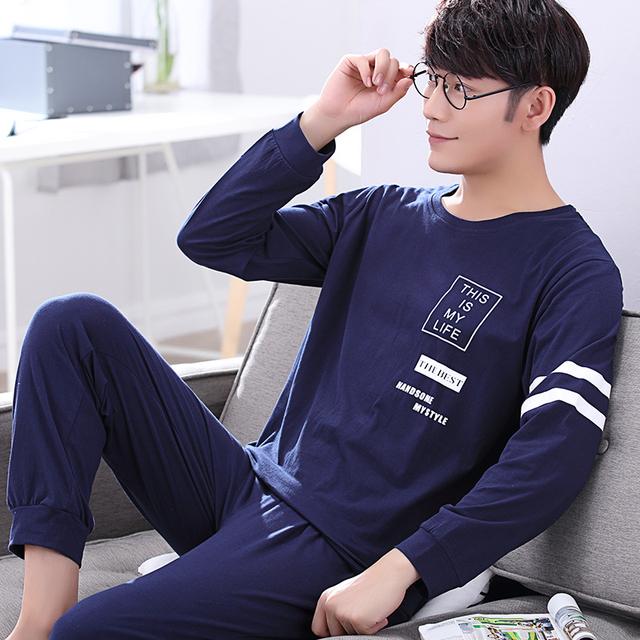 2016 de inverno dos homens de mangas compridas pijamas de algodão engrossado camisola cardigan e pijama conjunto pijama dos homens