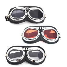 Moda Universal Moto Scooter Aviador Da Motocicleta Óculos de Proteção Piloto  Do Vintage Motociclista Óculos Óculos eab483d7b9