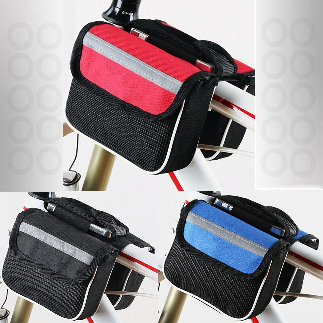 Cycling Bike Bicycle Phone Frame Tail Pannier Front Tube Saddle Bag Waterproof