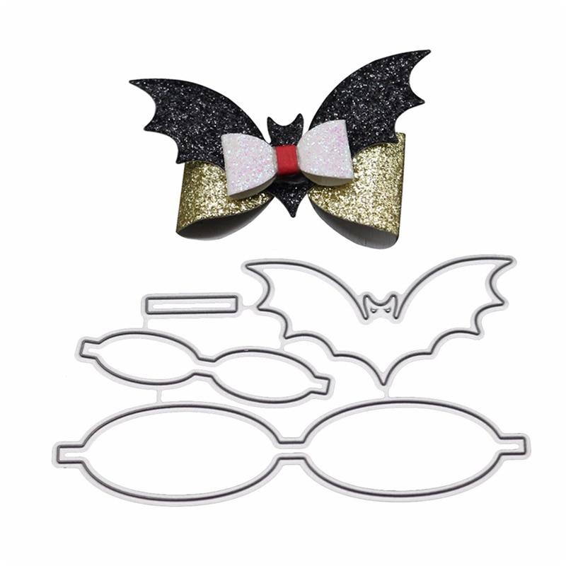 Bat Shaped Bowknot Bows Metal Cutting Dies Stencils DIY