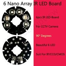 Новый продукт 6 красивый массив СВЕТОДИОДНЫХ ИК Светодиодов Ик Доска 90 градусов для CCTV Камеры Безопасности 75 диаметра камеры СВЕТОДИОДНЫЕ доска