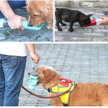Portable Creative Dog Bowl Cups Cats Feeding Water Outdoor Pet Dog Activated Carbon Filter Drinking Cup Portable Water Bottle