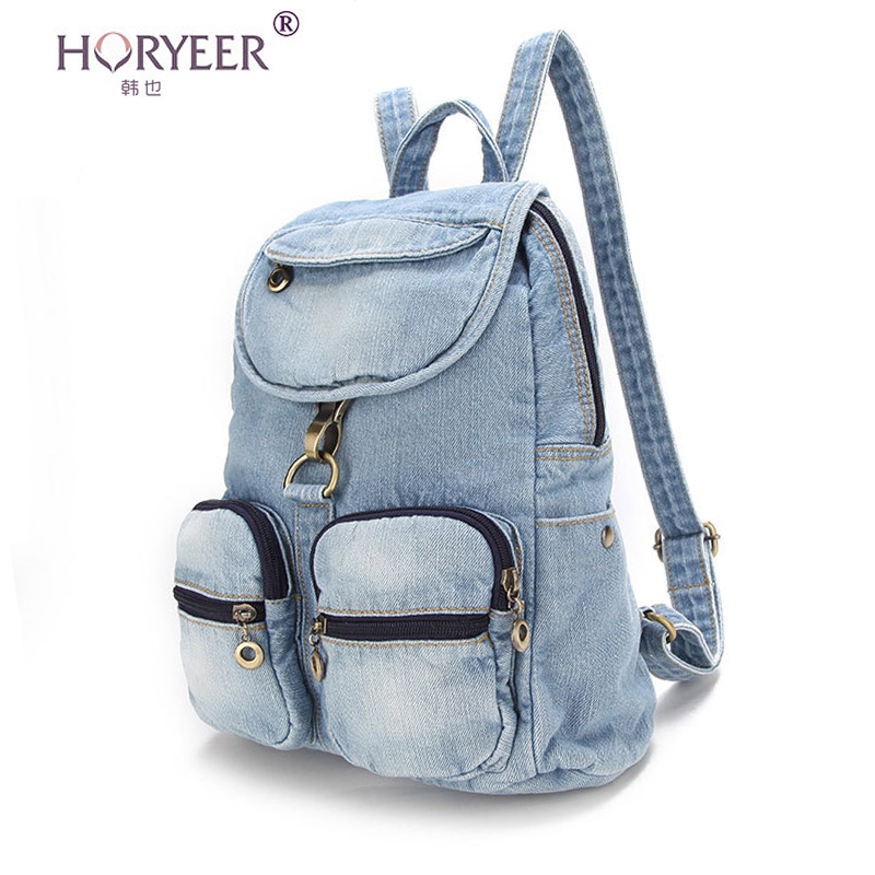 HORYEER kanken backpack classic school bag jeans Women backpack denim backpacks for teenage ...