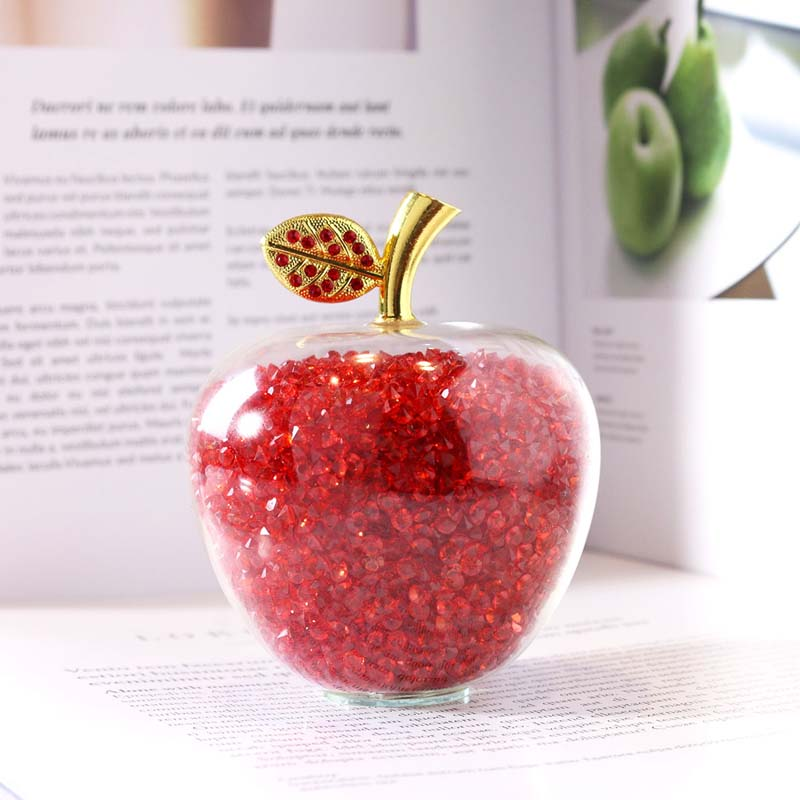 H&D Single Leaf Crystal Apple Filling Pink Drill Paperweight Easy Floor Fairly Items Crafts Memento House Marriage ceremony Ornament Collectible figurines & Miniatures, Low cost Collectible figurines & Miniatures,...