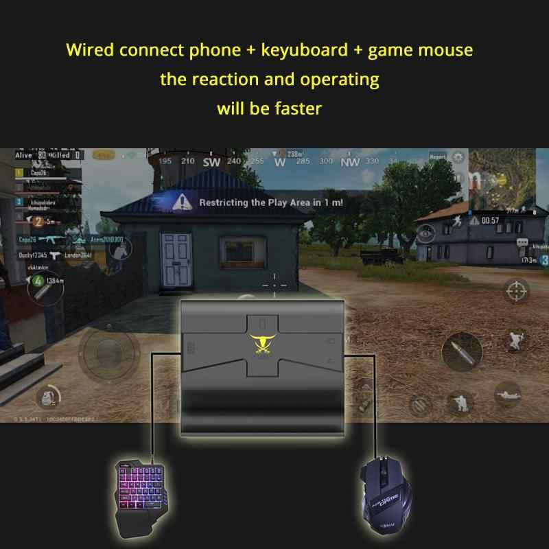 Kuulee 電話ゲームパッドアンドロイド Pubg ゲームキーボードマウス PC 変換アダプタ Iphone 送料無料とギフト