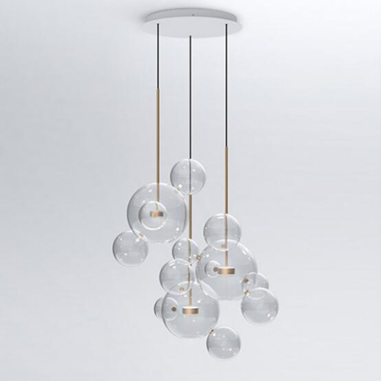 Clear glass ball living room chandeliers art deco bubble lamp shades chandelier Modern indoor lighting restaurant iluminacaoClear glass ball living room chandeliers art deco bubble lamp shades chandelier Modern indoor lighting restaurant iluminacao