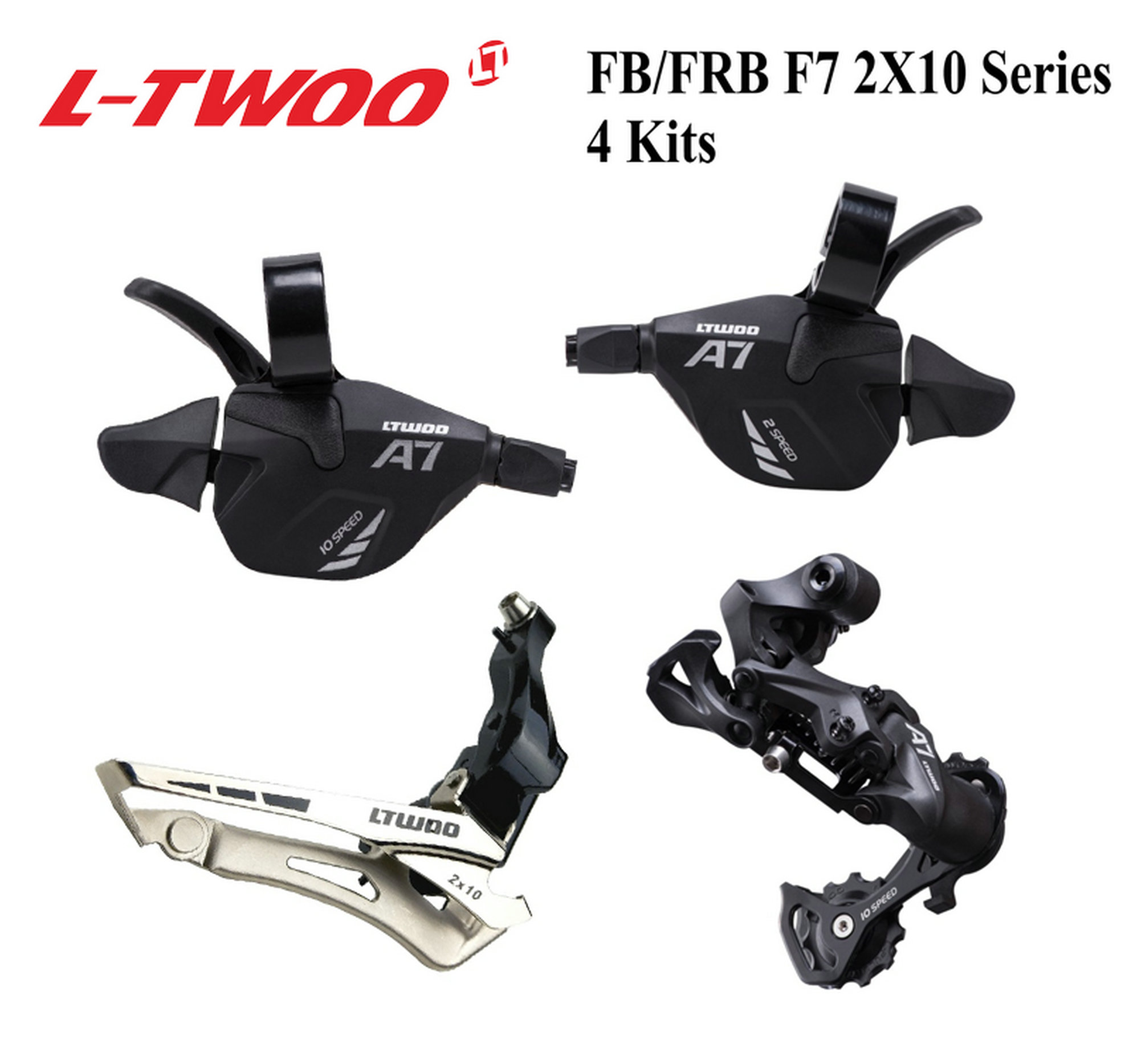 LTWOO Folding bike series F7 2x10 derailleur groupset shift lever left and right derailleur front and