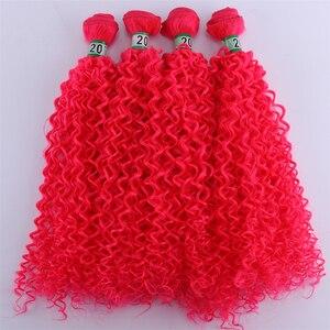 Image 5 - Extensión de pelo rizado Afro, Color rosa, 4 unidades