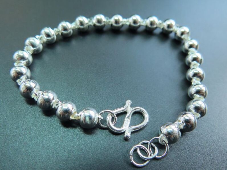 Authentic 925 Sterling Sliver Fine Design bracelet/Men&Women Beads Bracelet