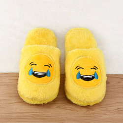Cute unisex winter man s plush slippers indoor shoes house funny women slippers emoji shoes warm.jpg 250x250