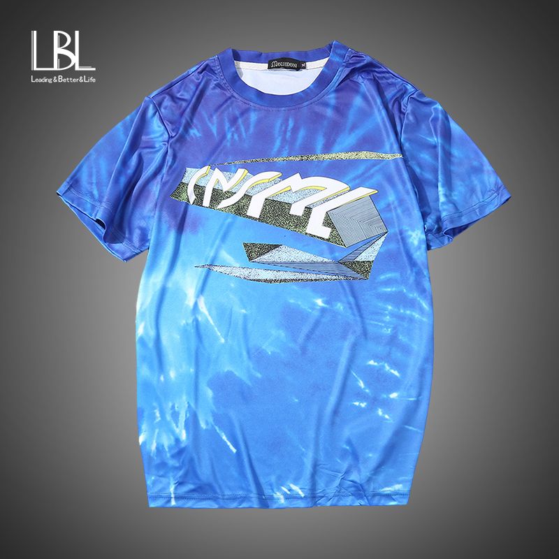 2018 Summer Men Breathable Casual T-Shirts Europe Size Male Luxury Smooth Clothing Homme Fashion 3D Printed Short Sleeve Shirts