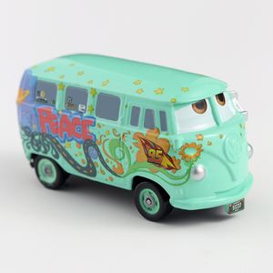 Image 2 - Disney Cars 3 Pixar Cars 1st Movie original Fillmore Metal Diecast Toy Car 1:55 Lightning McQueen Boy Gift Girl Free Shipping