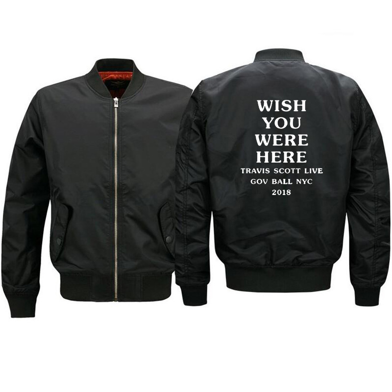 6fc023d5cde Detail Feedback Questions about Travis Scott Astroworld GOV BALL NYC 2018  jacket Mens and Womens Hip hop mens streetwear Outerwear Ma1 Bomber Jacket  Men on ...