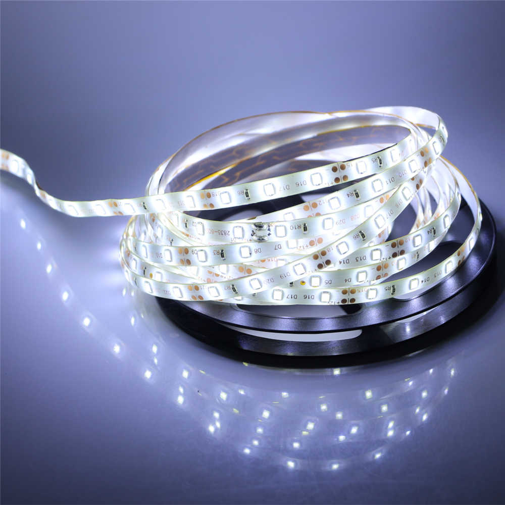 Image 4 - 2835 SMD led strip light DC12V 5M 300LEDs flexible ribbon tape lighting White Warm white Red Green Blue Yellow Pink RGB-in LED Strips from Lights & Lighting