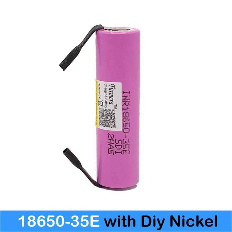 Inr18650 35e Turmera para Samsung 18650 3500 Mah Descarga 13a Inr18650 35e 18650 Bateria Li-ion 3.7 v Bateria Recarregável