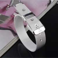 Fashion Leisure Strap Bracelets Mesh Couples Jewelry Gift Silver Plated Sell Like Hot Cakes Hand Catenary
