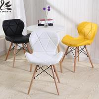 Lanskaya Synthetic Leather Modern Minimalist Dining Chairs Furniture Plastic PU Modern Design Leisure Chair For Dining